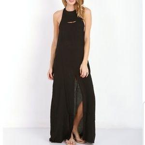 Acacia tavenui maxi dress in black